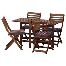 Runnen Floor Decking Uk by äpplarö Table And 4 Folding Chairs Outdoor äpplarö Brown