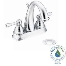 Moen Kingsley Faucet Brushed Nickel by Moen Kingsley 4 In Centerset 2 Handle Bathroom Faucet In Wrought