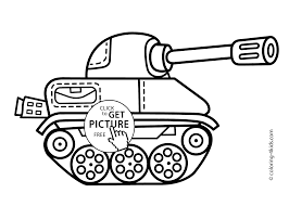 Tank Transportation Coloring Pages For Kids Printable Free