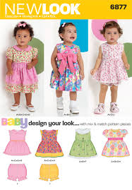 babies design your look dresses sewing pattern 6877 new look