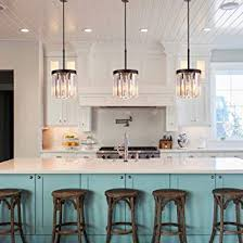 Kitchen Island Lighting Elegant Light By Luxall Crystal Pendant For Living Room Bedroom