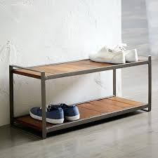 Outdoor Shoe Rack With Bench Build Shoe Storage Bench Plans Wood