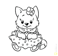 Kitten Coloring Pages Printable Page To Print Puppy And