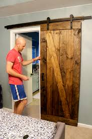 How To Hang A Sliding Barn Door - Doors Garage Ideas Double Sliding Barn Doors Master Bath Entrance With Our Antique Door Hdware How Haing Remodelaholic 35 Diy Rolling Ideas To Build Youtube Bathrooms Design Amazing Bathroom For To Hang The White Stained Wood On Black Rod Next Track Lowes Everbilt How And Hdware For Haing A Sliding Barn Door Fniture External By Elise Blaha Cripe Epbot Make Your Own Cheap Pretty Distressed