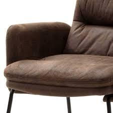 brauner stuhl mit armlehnen izunamy 2er set