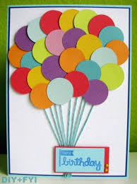 Creative Birthday Cards Together With Cute Balloons Card Easy And Cheap Handmade