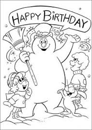 Printable Coloring Pages Of Frosty The Snowman Happy Brithday Picture 3 550x770