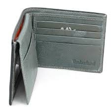 timberland mens wallet bifold passcase genuine leather 2 id