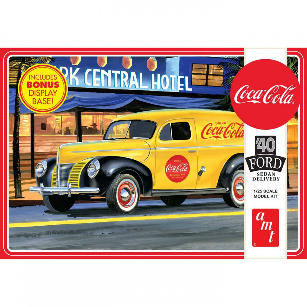 AMT 1940 Ford Sedan Delivery Coca Cola Model Car
