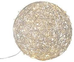 qazqa design modern bodenleuchte draht kugel 60cm led