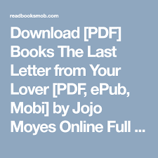 Download PDF Books The Last Letter from Your Lover PDF ePub