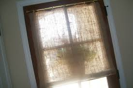 Smocked Burlap Curtain Panels by Burlap Curtains Design Ideas And Decor