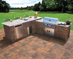 Nicolock Outdoor Kitchen and Grill Contemporary Patio New
