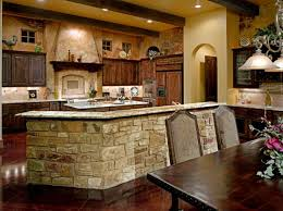Luxurious French Country Kitchen Engaged Modern Design Galley Cool Superb Stylish Blue Stove Elements