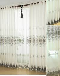 2015 new living room curtains with lace design