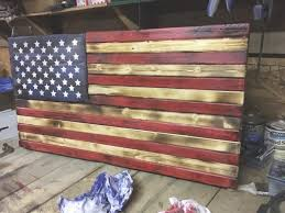 Designs Wooden American Flag Wall Art With Rustic For