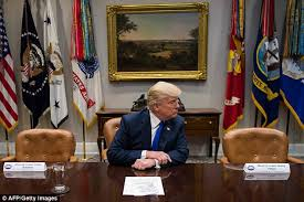 trump trolls schumer and pelosi with empty chairs daily mail online