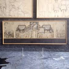sketch for rockefeller mural museo diego rivera anahuacalli