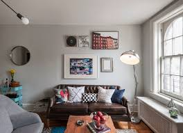 New York Hipster Apartment Decor With Eclectic Sofas Living Room And Rustic