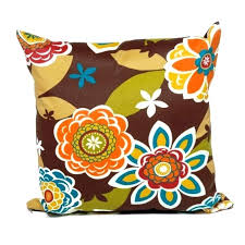 Ideas Outdoor Accent Pillows And Retro Floral Outdoor Throw