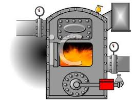 Cartoon Of A Blazing Furnace