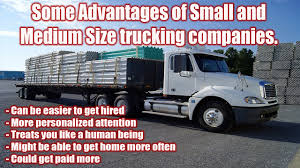 Small To Medium Sized Local Trucking Companies Hiring