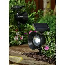 Walmart 4 Piece Lamp Set by Mainstays 6 Piece Solar Powered Adjustable Spotlight Set Black