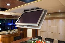 support tv au plafond support tv plafond escamotable gelaco