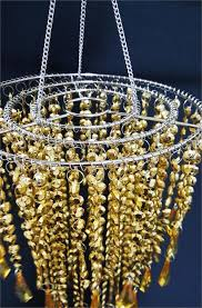Fancy Party Chandelier Decoration Acrylic Centerpiece Gold For