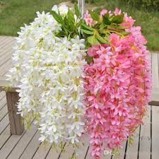 Best High Quality Plants Wisteria Hang Silk Flowers Artificial Vine