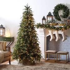 9 Ft Slim Christmas Tree Prelit by 7 5 Ft Delicate Pine Slim Pre Lit Christmas Tree Hayneedle