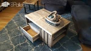 Crate Coffee Table Pallet Video Tables With Legs