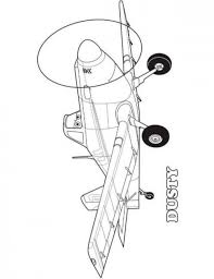 Dusty Printable Free Planes Coloring Sheets 550x715 Picture