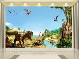 3d Wallpaper Photo Custom Kids Mural Living Room Ancient Dinosaur World Painting Background