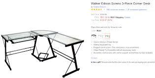 Walker Edison 3 Piece Contemporary Desk Instructions by L Shaped Desk U2013 Walletup Com