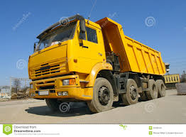 Yellow Dump Truck Stock Photo. Image Of Dumper, Load, Debris - 2225544