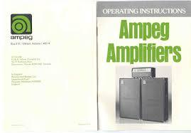 Ampeg V4 Cabinet Ohms by Manual U0026 Catalogs Ampeg V4 Com All Ampeg All The Time
