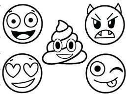 Excellent Emoji Coloring Pages Faces Plus Unicorn