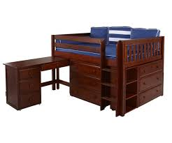 Maxtrix LARGE4L Low Loft Bed with Desk Bed Frames