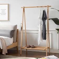 nordic massivholz boden mantel rack schlafzimmer stehend regal einfache japanischen buche kleidung stehen faltbare wohnzimmer möbel