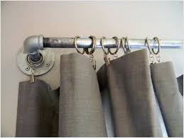 Fine Looking Industrial Curtain Rod Inside Rustic