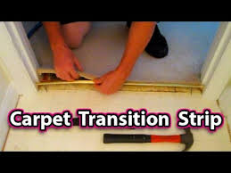 Ceramic Tile To Carpet Transition Strips by How To Install A Carpet Transition Strip Easy Floor Repair Fix