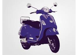 Vespa Scooter Free Vector Art