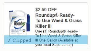 Roundup Weed Grass Killer Coupons Walmart Deal