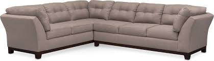 the sebring sectional collection smoke value city furniture