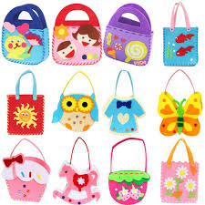 DIY Applique Bag Kids Children Handmade Non Woven Cloth Cartoon Animal Flower Craft Art Gift 1PCS In Drawing Toys From Hobbies On