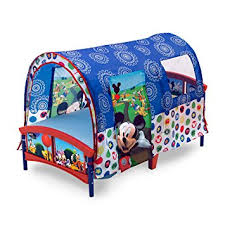 amazon com delta children toddler tent bed disney mickey mouse
