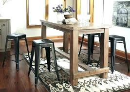 Bar Style Table Pub Dining Room Tables Stools Sets Round Portable Breakfast Kitchen Cart Island