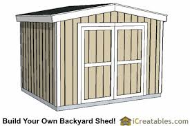 8 X 10 Gambrel Shed Plans by 6x8 Short Shed Plans Shed Plans With Low Roof Height