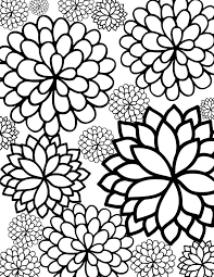 Flower Coloring Pages Image Gallery Printable Flowers
